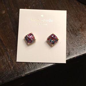 NWT Kate Spade Mini Multi Glitter Earrings